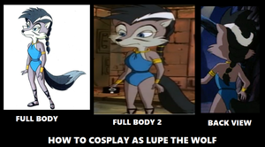 How to cosplay as Lupe the chó sói, sói