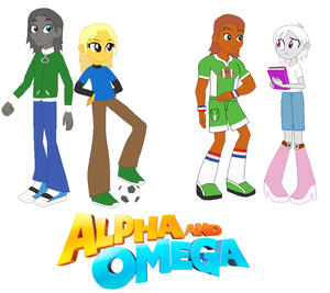 Humphrey, Kate, Garth, & Lilly in Equestira Girls style