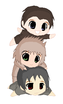 Humphrey, Salty, & Shaky as chibis
