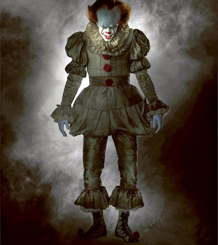 Horror films achtergrond called IT (2017) - Pennywise the Dancing Clown