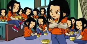 Jade with her clones