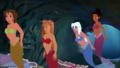 Jane, Giselle, Kida and Tiana as Mermaids