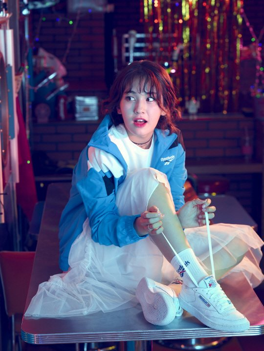 Jeon Somi for Reebok Classic's 'Back to the 90's CLUB C