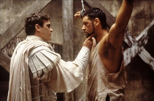 Joaquin Phoenix as Commodus in Gladiator (2000)