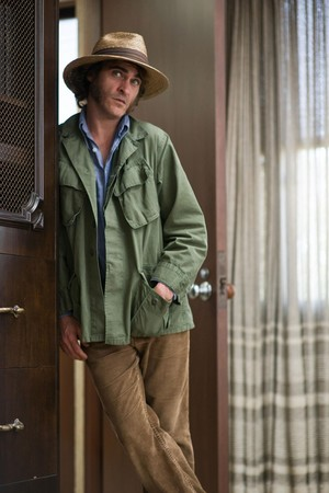 Joaquin Phoenix as Larry 'Doc' Sportello in Inherent Vice (2014)