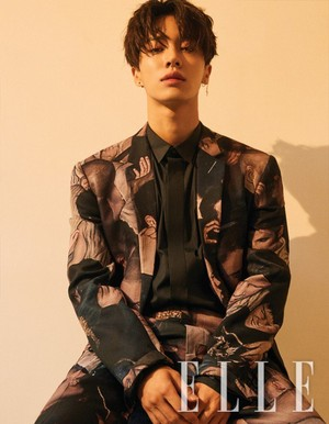Kikwang rocks suits and talks about his goals with 'Elle'