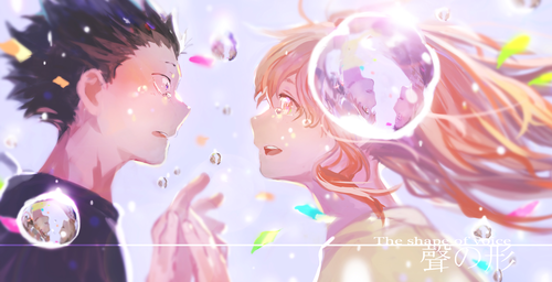 Koe no Katachi kertas dinding titled Koe no Katachi.