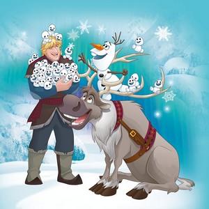 Kristoff, Olaf and Sven