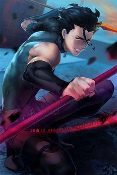 Fate Series wolpeyper called Lancer (Zero)