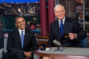 Barack And David Letterman
