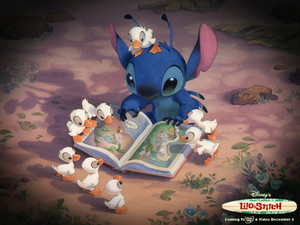 Lilo Stitch Reading, hình nền
