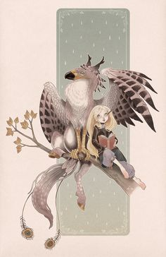 Luna Lovegood and the Hippogriff