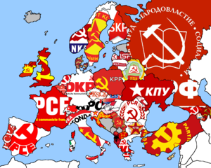 Map of european communist parties