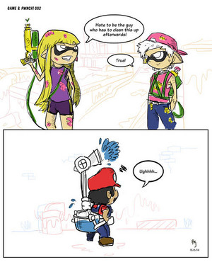 Mario in Splatoon