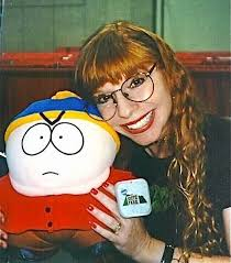 Mary Kay with Cartman doll