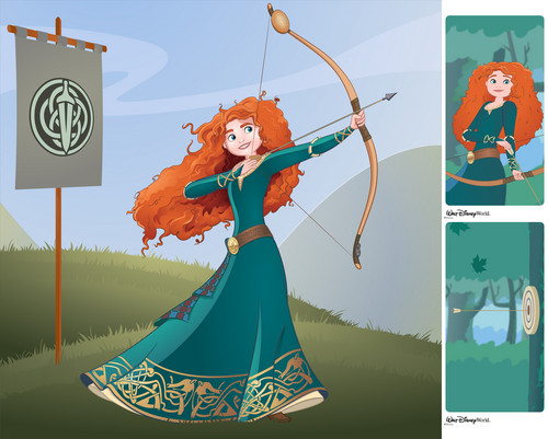 Disney-Prinzessin Hintergrund entitled Merida