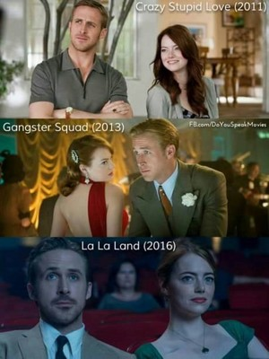 cine done por Emma Stone and Ryan ansarino, gosling