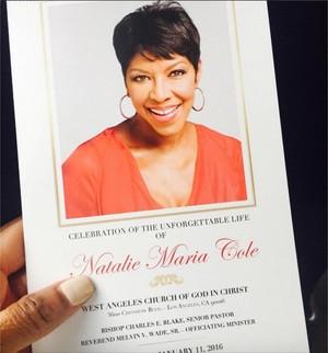 Natalie Cole Funeral Program