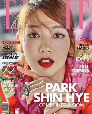 PARK SHIN HYE COVERS SEPTEMBER 2017 ELLE SINGAPORE