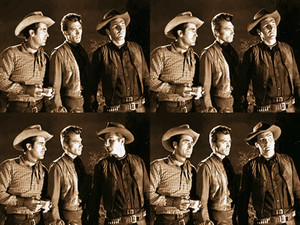 Pete, Rowdy, and Gil (Sheb Wooley, Clint Eastwood, and Eric Fleming)