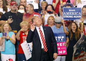 President Trump Holds Rally In Phoenix, Arizona - August 22, 2017