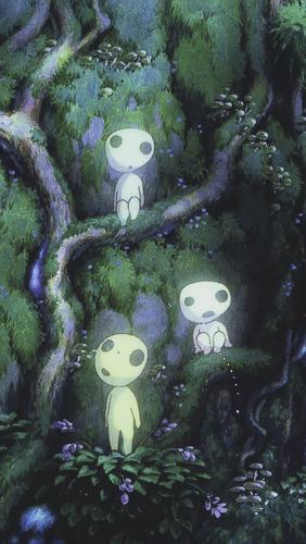 Hayao Miyazaki Wallpaper Entitled Princess Mononoke Phone