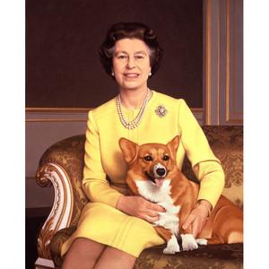 Queen Elizabeth II & Her Corgi