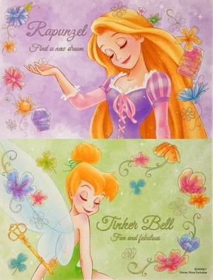 Rapunzel and Tinker Bell