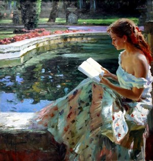 Reading by the Pond