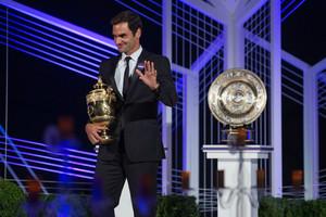Roger Federer and Garbine Muguruza at the Champions Dinner2