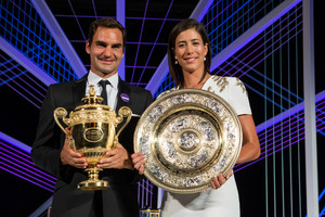 Roger Federer and Garbine Muguruza at the Champions Dinner4