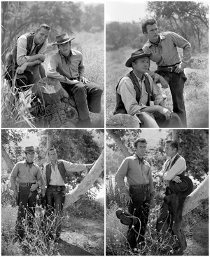 Rowdy Yates and Gil Favor (Eric Fleming) Rawhide