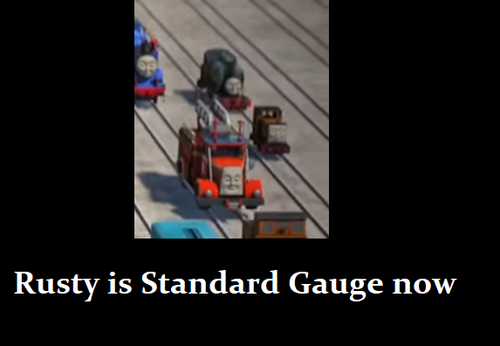 Thomas the Tank Engine hình nền entitled Rusty Meme
