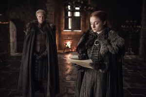 Sansa and Brienne 7x06 - Beyond the দেওয়াল