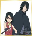Sasuke and Sarada - naruto-shippuuden photo