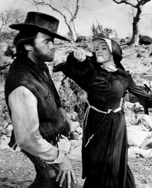 Shirley MacClaine and Clint Eastwood in Two Mules For Sister Sara (1970)