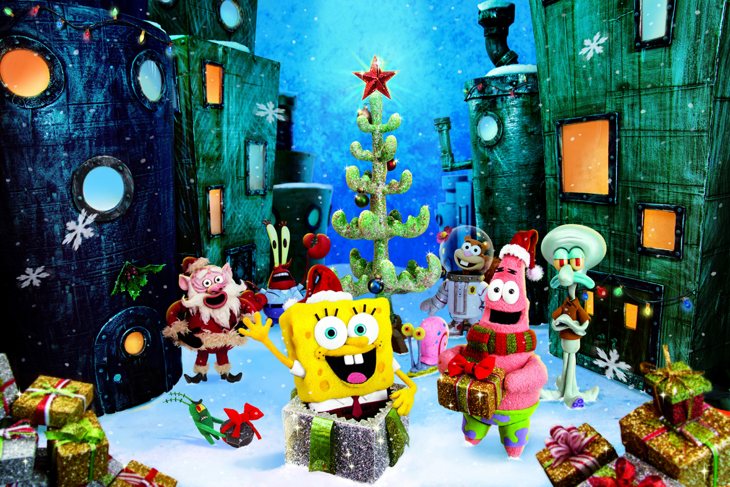 Spongebob Bilder Spongebob Weihnachten Hintergrund HD Hintergrund ...