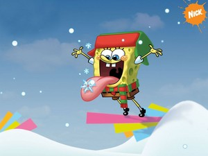 Spongebob Christmas wallpaper