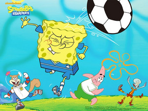 Spongebob Football 壁紙