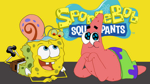 Spongebob, Gary and Patrick वॉलपेपर
