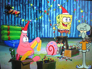 Spongebob, Patrick, Gary and Squidward natal
