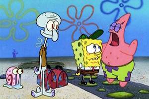 Spongebob, Patrick, Squidward and Gary