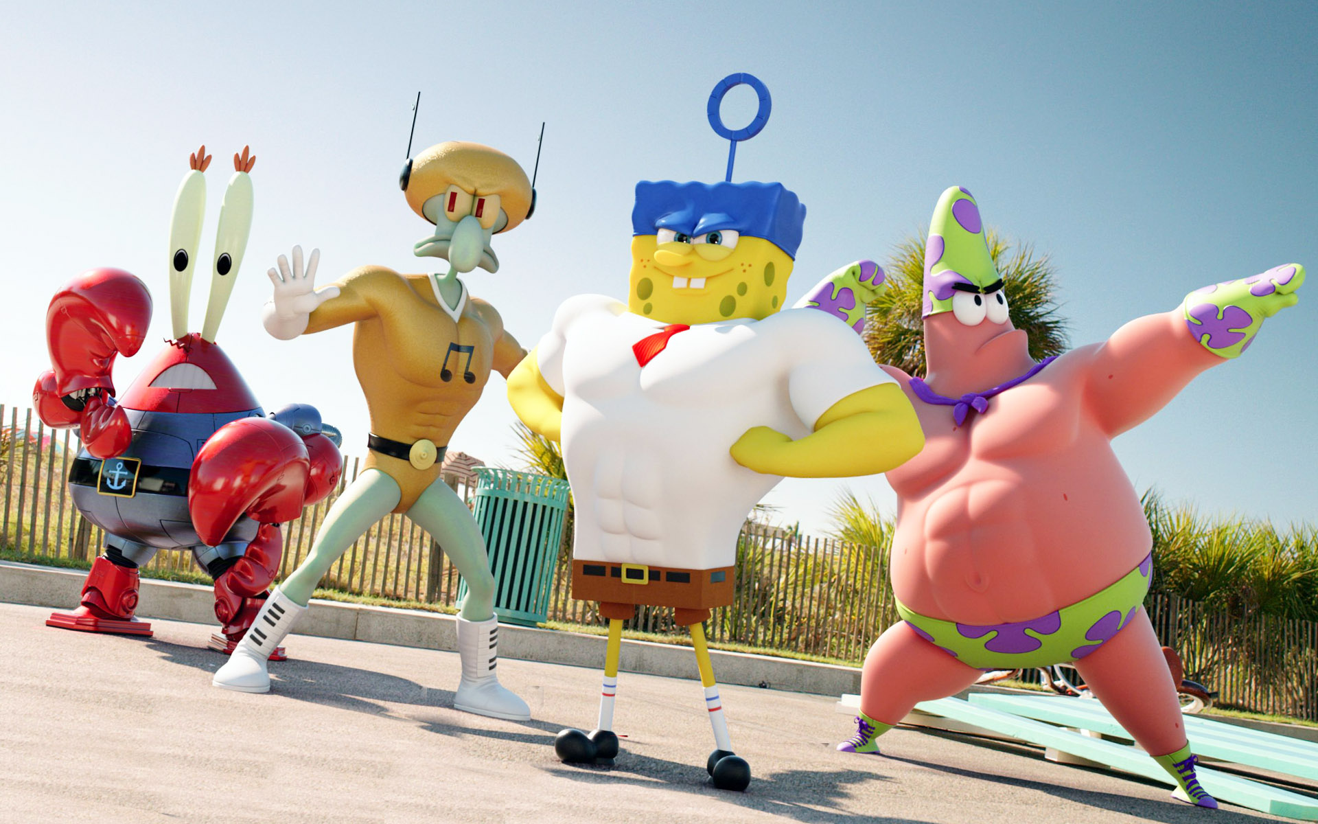 Spongebob Patrick Squidward And Mr Krabs Spongebob