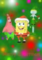 spongebob-squarepants - Spongebob, Patrick and Squidward Christmas wallpaper wallpaper