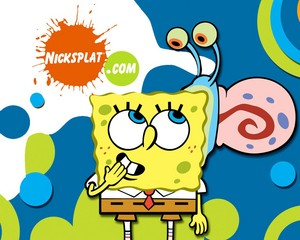 Spongebob and Gary wallpaper