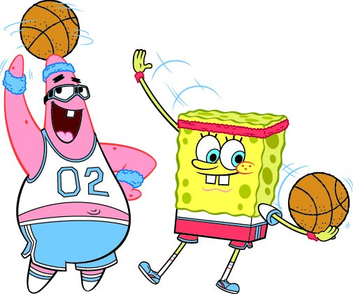 Spongebob and Patrick bola basket
