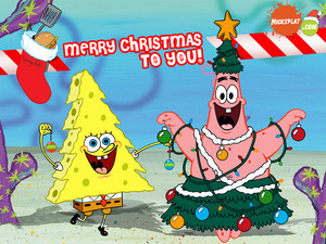 Spongebob and Patrick natal wallpaper