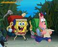 spongebob-squarepants - Spongebob and Patrick in the forest wallpaper