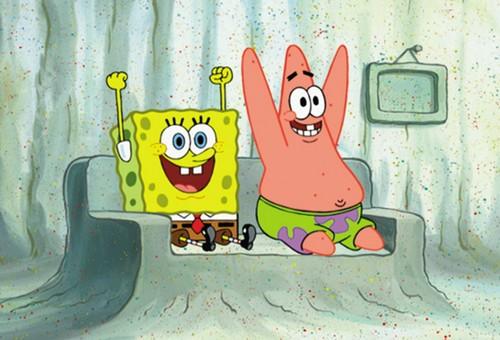 Spongebob Squarepants پیپر وال titled Spongebob and Patrick