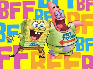 Spongebob and Patrick kertas dinding